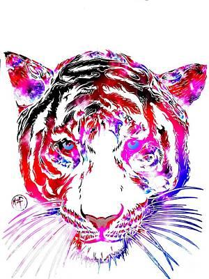 Cosmic Tiger Art Print by Justin Moore