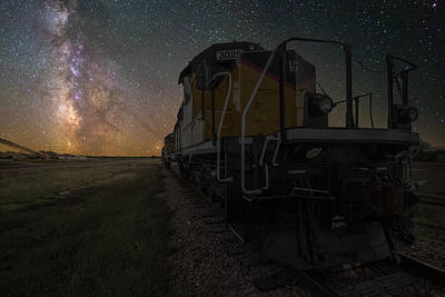 Express Way Photograph - Cosmic Train by Aaron J Groen