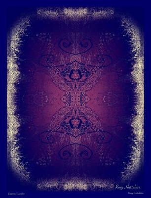 Digital Art - Cosmic Transfer by Roxy Hurtubise