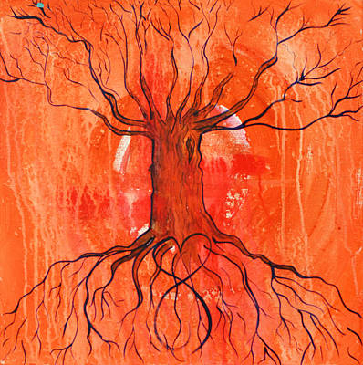 Painting - Cosmic Tree by Mary Ann Matthys