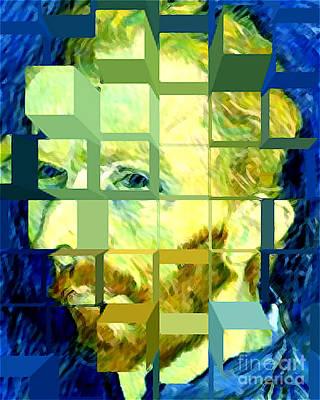 Cosmic Van Gogh Portrait Art Print by Jerome Stumphauzer