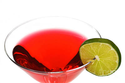 Photograph - Cosmopolitan Drink With Lime Isolated by Danny Hooks