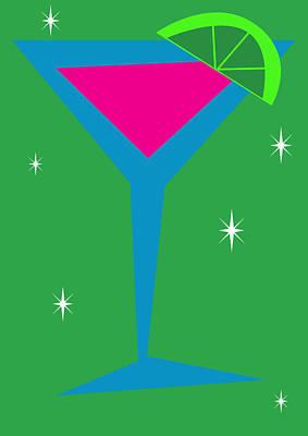 Martini Digital Art - Cosmopolitan by Eva