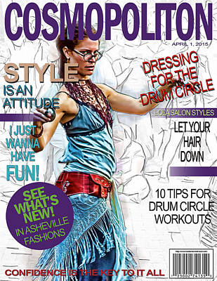Digital Art - Cosmopolitan Faux Cover by John Haldane