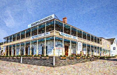 Digital Art - Cosmopolitan Hotel Old Town San Diego Usa by Liz Leyden