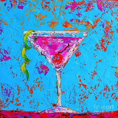 Martini Royalty-Free and Rights-Managed Images - Cosmopolitan Martini Cherry Flavored - Modern Art by Patricia Awapara