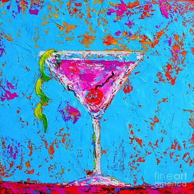 Martini Paintings - Cosmopolitan Martini Cherry Flavored - Modern Art by Patricia Awapara