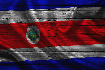 Flag Pole Photograph - Costa Rica by Joe Hamilton