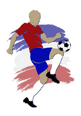 Costa Rica Soccer Player Art Print by Joe Hamilton