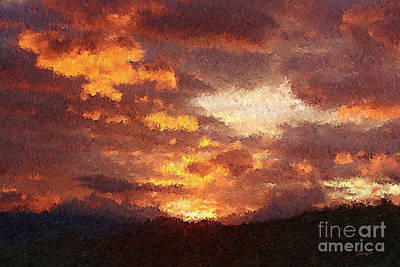 Eco-tourism Painting - Costa Rica Sunset  by Sergio B