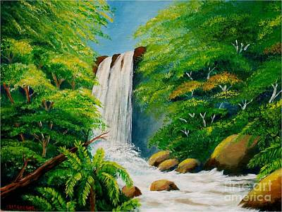 Costa Rica Waterfall Art Print