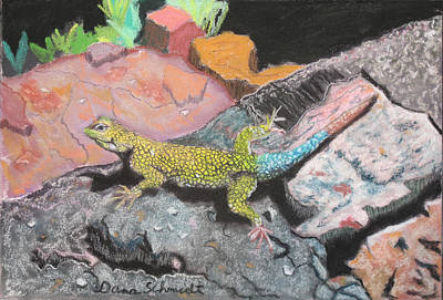 Painting - Costa Rican Lizard by Dana Schmidt