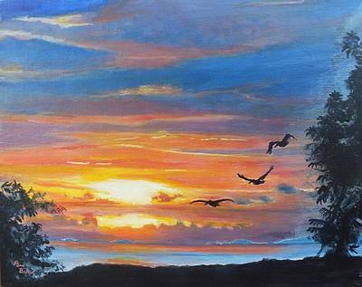 Painting - Costa Rican Sunset by Peni Baker