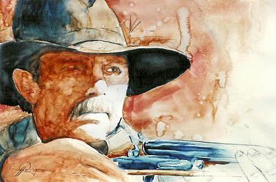 Kevin Costner Painting - Costner's Earp by John Dougan