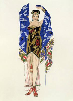 Costume Design For A Dancing Girl Art Print by Leon Bakst
