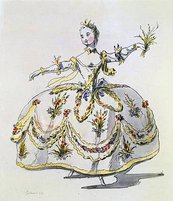 Harvest Drawing - Costume Design For Ceres, Facsimile by French School