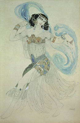 Costume Design For Salome In Dance Of The Seven Veils, 1909 Wc Art Print by Leon Bakst