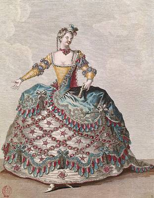 Costume For An Indian Woman For The Opera Ballet Les Indes Galantes By Jean-philippe Rameau Art Print by Jean Baptiste Martin