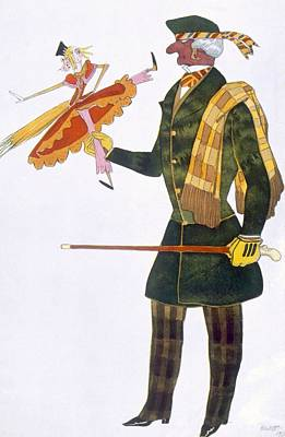 Comical Drawing - Costume For The Englishman, From La by Leon Bakst
