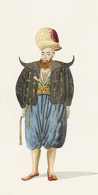 Arabian Painting - Costumes Of Civil And Military Ottomans by Celestial Images