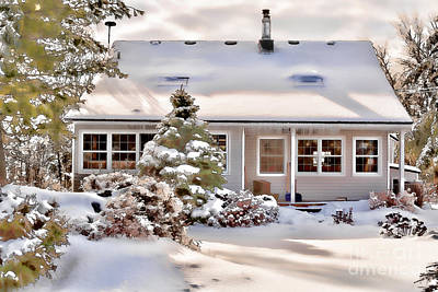 Winter Storm Photograph - Cosy In Winter by Louise Heusinkveld
