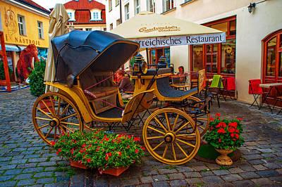 Photograph - Cosy Restaurant Na Kampe. Prague by Jenny Rainbow