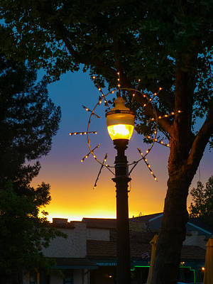 Art Print featuring the photograph Cotati Lights by Jan Davies