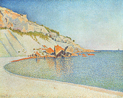 Pointillist Painting - Cote D'azur by Paul Signac