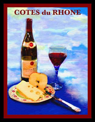 Table Wine Photograph - Cotes Du Rhone by Madeline Ellis