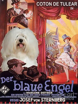 Coton De Tulear Art - Der Blaue Engel Movie Poster Art Print by Sandra Sij