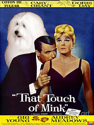 Nobility Dogs Painting - Coton De Tulear Art -that Touch Of Mink Movie Poster by Sandra Sij