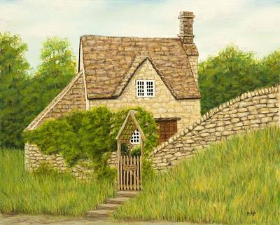 Comfort Painting - Cotswold Cottage by Rebecca Prough