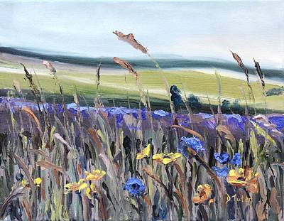 Donna Summer Painting - Cotswold Wildflowers by Donna Tuten
