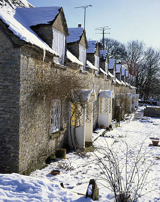 Cotswolds Cottages In Winter  Original by Paul Felix