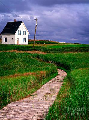 Prince Edward Island Photograph - Cottage Among The Dunes by Edward Fielding