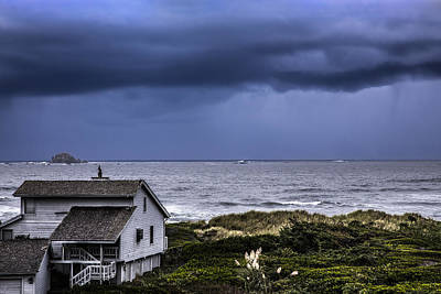 Driftwood Beach Fog Wall Art - Photograph - Cottage At The Sea by Debra and Dave Vanderlaan