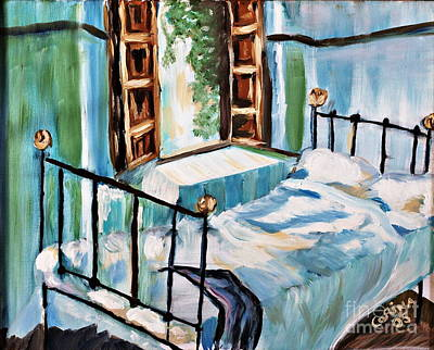 Cottage Painting - Cottage Bedroom by Corina Hogan