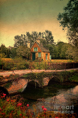Cottage By The River Art Print