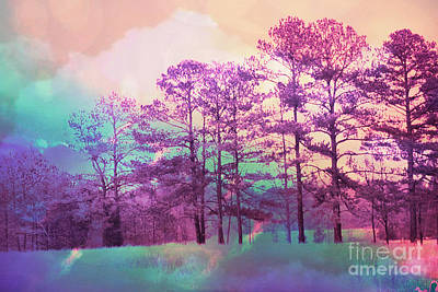 Photograph - Cottage Chic Dreamy Surreal Pink Abstract Nature  by Kathy Fornal