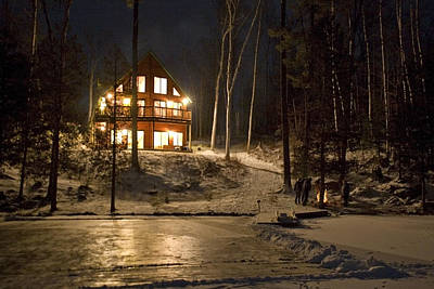 Muskoka Wall Art - Digital Art - Cottage Country - Winter by Pat Speirs