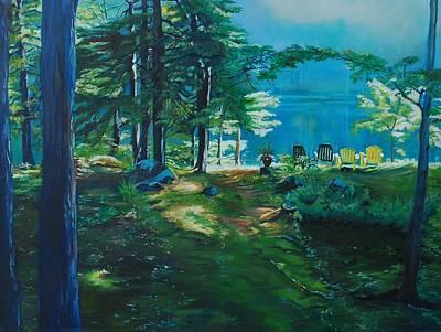 Cottage Deck View Art Print