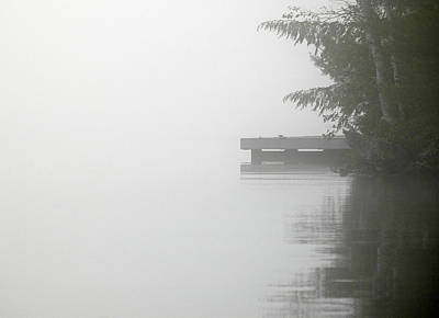 Photograph - Cottage Dock - A Misty Morning On Lake Joseph. Muskokas by Rob Huntley