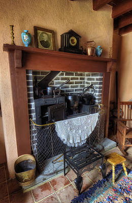 Rocking Chairs Photograph - Cottage Fire Place by Ian Mitchell