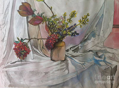 Painting - Cottage Flowers by Michelle Deyna-Hayward