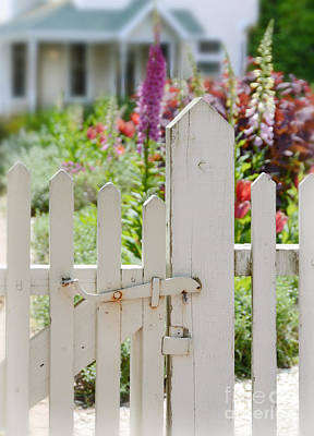 Photograph - Cottage Garden Picket Gate by Jill Battaglia