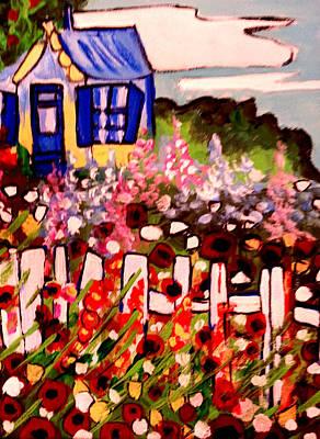 Cottage Garden Revised Art Print