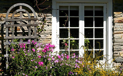 Photograph - Cottage Garden Window by Living Color Photography Lorraine Lynch