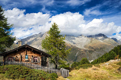 Photograph - Cottage In The Swiss Alps Switzerland by Matthias Hauser