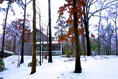 Photograph - Cottage In The Woods by Charlie and Norma Brock