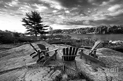 Photograph - Cottage Life Black White by Charline Xia